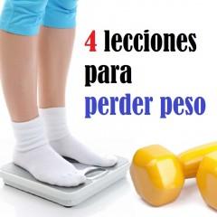 4 Lecciones para perder peso