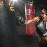 Entrenamiento con saco de boxeo